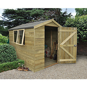 Wickes Tongue & Groove Pressure Treated Apex Shed 6x8