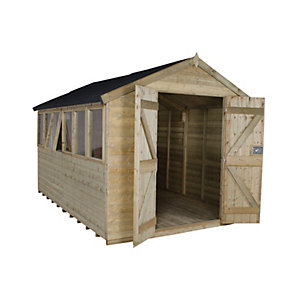 Wickes Tongue & Groove Pressure Treated Apex Shed 8 x 12