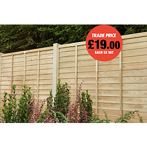 Super Lap Fence Panel Pressure Treated 1828x1828mm