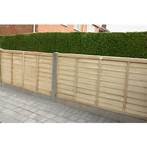 Super Lap Fence Panel Pressure Treated 1828mm x 1220mm
