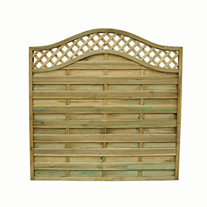 Wickes Bristol Fence Panel 1.8mx1.8m Integrated Trellis
