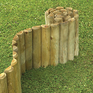 Wickes Timber Border Log Roll Edging 150mm x 1.8m