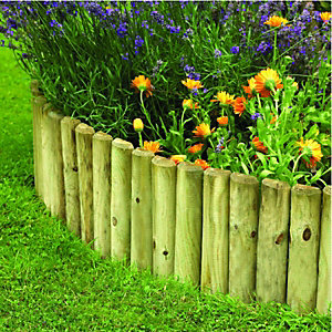 Wickes Timber Border Log Roll Edging 300mm x 1.8m