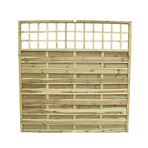 Wickes Hertford Fence Panel 1.8mx1.8m Integrated Trellis