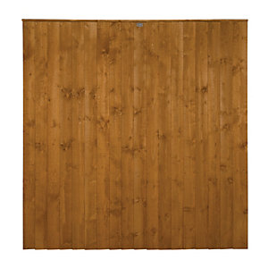 Wickes Featheredge Fence Panel 1.8mx1.8m Autumn Gold