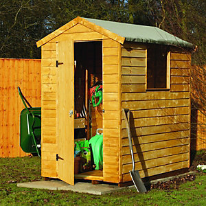 Wickes Premium Overlap Apex Shed 6x4ft
