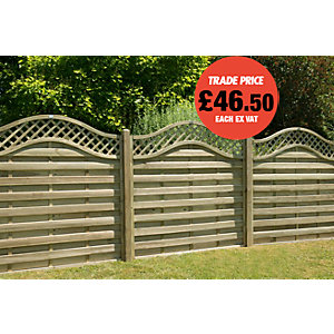 Fence Panel Pitsford Pressure Treated 1800x1800mm