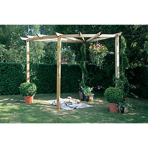 Pressure Treated Timber Radial Pergola 90°