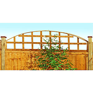 Wickes Arch Top Trellis Autumn Gold 460mm x 1.83m