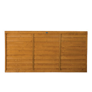 Wickes Overlap Fence Panel 1.8mx0.9m Autumn Gold