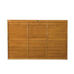 Wickes Overlap Fence Panel 1.8mx1.2m Autumn Gold