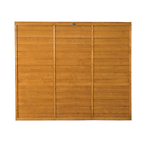 Wickes Overlap Fence Panel 1.8mx1.5m Autumn Gold