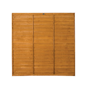 Wickes Overlap Fence Panel 1.8mx1.8m Autumn Gold