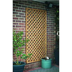 Wickes Fence Top Trellis Diamond Lattice 1830mmx900mm Natural Timber