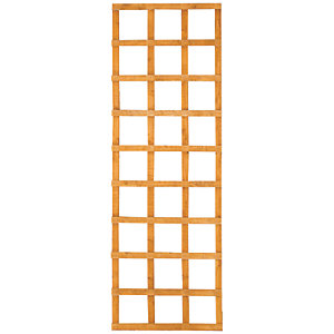 Wickes Fence Top Trellis Square Lattice Autumn Gold 1.83m x 600mm