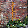 Wickes Fence Top Trellis Square Lattice 1830mmx300mm Autumn Gold