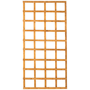 Wickes Fence Top Trellis Square Lattice Autumn Gold 1.83m x 900mm