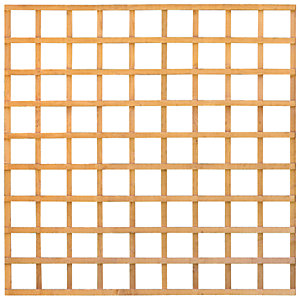 Wickes Fence Panel Trellis Square Lattice Autumn Gold 1.83 x 1.83m
