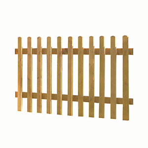 Wickes Pale Picket Fence 1.8mx0.9m Autumn Gold