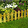 Wickes Timber Picket Fence Style Border Edging 280mmx1.1m