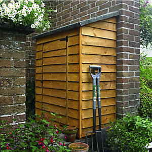 Wickes Tall Garden Overlap Wall Storage 1490x1120x650mm Natural