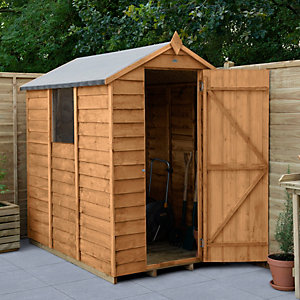 Overlap Dip Treated Apex Shed 1219mm x 1829mm