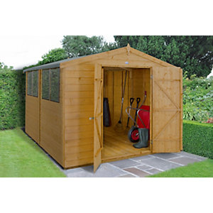 Shiplap Dip Treated Double Door Apex Shed 2438mm x 3048mm