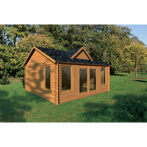 Alderley Log Cabin 4000mm x 3000mm