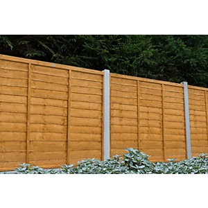 Trade Lap Fence Panel Dip Treated 1828mm x 1524mm