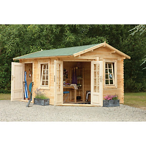 Pickering Log Cabin Natural Timber 4000mm x 2800mm