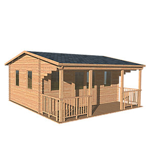 Harlech Log Cabin Natural Timber 5000mm x 4000mm