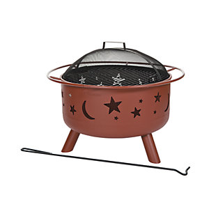Landmann Big Sky Moon & Stars Fire Pit Georgian Clay