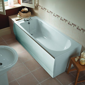 Wickes Tariva Single Ended Straight Bath White
