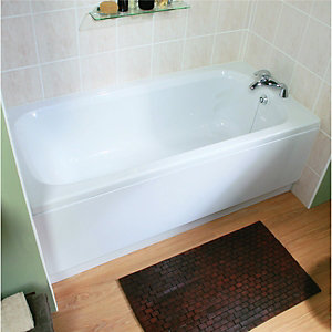 Wickes Aswan Spacesaver Straight Bath White 1500mm