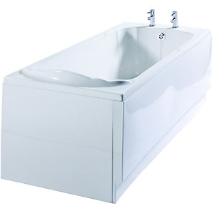 Wickes Veneto Single Ended Straight Bath White 1697mm