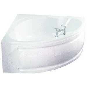 Wickes Palma Corner Large Bath Right Hand White 1350mm