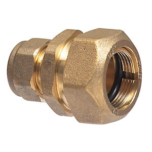 Wickes Compression 7lb Copper To Lead Coupling With Liner 12 x 25mm
