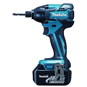 Makita 18V Li-ion Cordless Impact Driver + 2 Batteries BTD129RFE