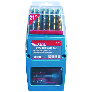 Makita P-57087 Drill & Bit Set 21 Piece