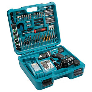 Makita DHP453RFTK Combi Drill With 101 Piece Accessory Kit 18v