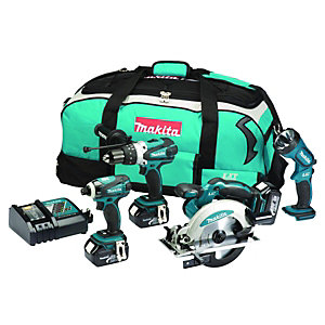 Makita LXT400 18v Li-ion 4 Piece Kit