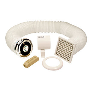 Manrose in Line Shower Lite Fan Kit 100mm Slktc