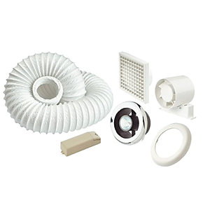 Manrose in Line Centrifugal Shower Lite Fan Kit Slcfdtc