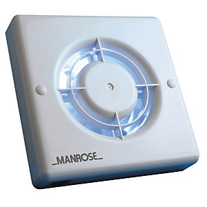 Manrose 100mm - 4 Timer Fan Blister Pack