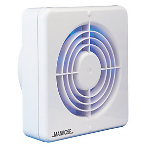 Manrose White 150mm/6 Humidity/Timer Fan Blister Pack