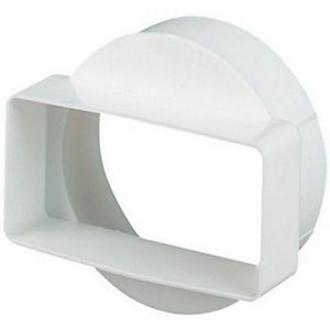 Manrose Short Round to Rectangle Adapter 110x54mm