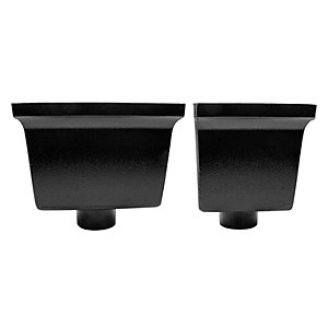 Alutec Flush Fit 63mm Hopper Standard Heritage Black