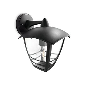 Philips 60W Creek Wall Lantern Black