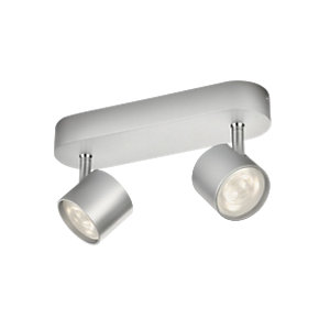 Philips Star LED 2 Bar Spotlight Aluminium