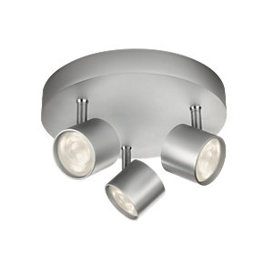 Philips Star LED 3 Plate Spotlight Aluminium